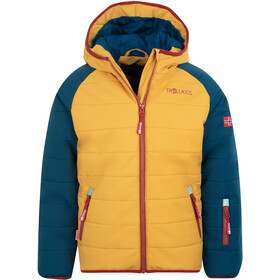 TROLLKIDS Hafjell Pro Sneeuwjas Kinderen, mystic blue/golden yellow/rusty red